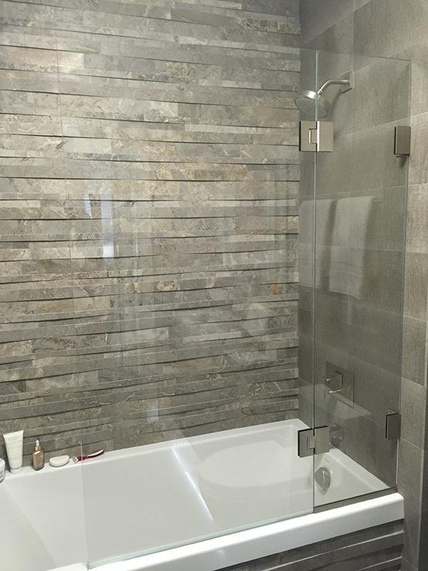 Hinged Tub Shield Shower Doors Chicago Mirrors